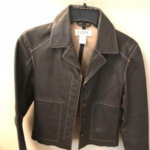 Vintage cropped J.CREW Leather Jacket Moto Size S